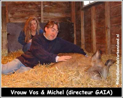 Vrouw Vos &amp Michel (directeur GAIA)